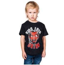 Toxico Clothing Black Kids Love Satan T Shirt