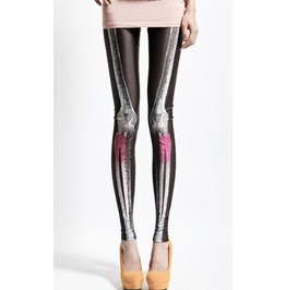 Design 145 White And Red X Ray Leggings