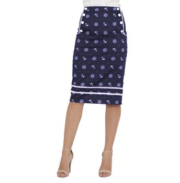 Voodoo Vixen Clothing Nautical Skirt Navy And Red