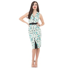 Voodoo Vixen Clothing Sherilee Printed Dress