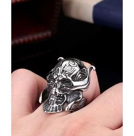 Samurai Skull Ring Garo Stainless Steel Man Ring