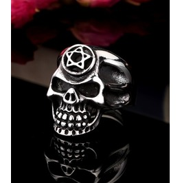 Stainless Steel Ring Skull Men's
