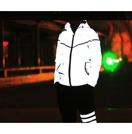 Glow Jacket A/ Casual Hip Hop Brand /Waterproof 3m Reflective Jacket Men