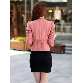 Double Breasted Appliques Slim Cardigan Female Short Jacket
