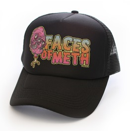 Toxico Clothing Unisex Black Faces Of Meth 2 Trucker Hat