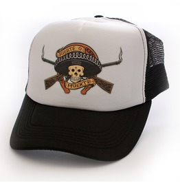 Toxico Clothing Unisex Black White Suerte Trucker Hat