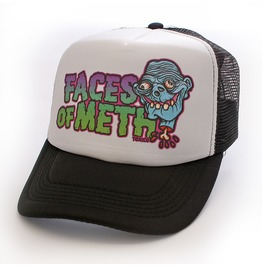 Toxico Clothing Unisex Faces Of Meth 1 Trucker Hat Black And Green
