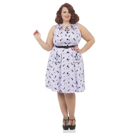 Voodoo Vixen Clothing 50s Inspired Sleeveless Flared Dress