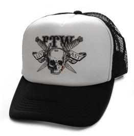 Toxico Clothing Unisex Black White Ftw Trucker Hat
