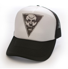 Toxico Clothing Unisex Possessed Trucker Hat White And Black
