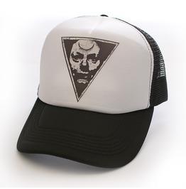 Toxico Clothing Unisex Possessed Trucker Hat White And Black