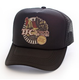 Toxico Clothing Unisex Tfc Trucker Hat Black And White