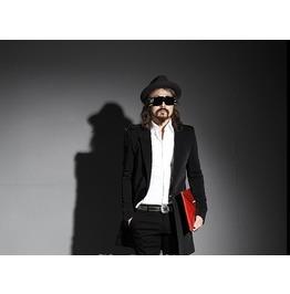 Men's Modern Basic Solid Black Slim Long One Button Suit