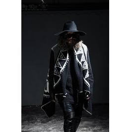 Modern Unique Cozy Unique Urban Chic Oriental Pattern Shawl Vest