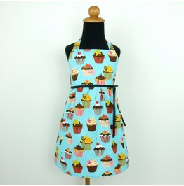 Blue Cupcakes Girl's Dress