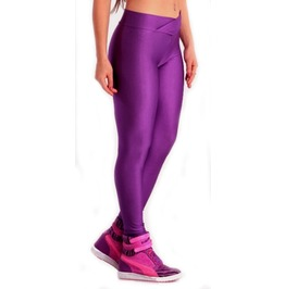 Purple V Waist Leggings Design 312