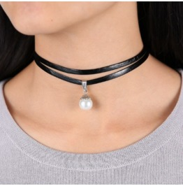 Women's Double Layer Gothic Choker Necklace