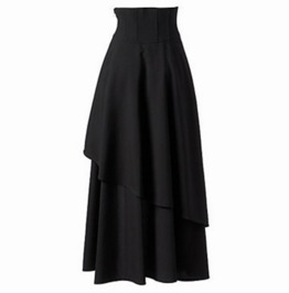 Women's Gothic Lolita Long Cotton Skirt