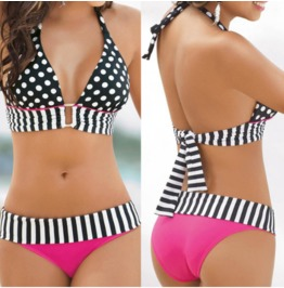 Women's Sexy Push Up Neoprene Bikini Swimsuit