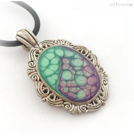 Zombie Brain Pendant, Gothic Horror Handmade Jewelry