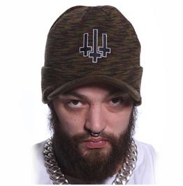 Toxico Clothing Unisex Camo Satan Army Peaked Ski Hat