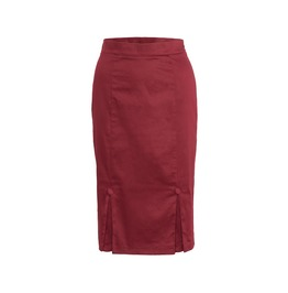 Voodoo Vixen Clothing Penelope Burgundy Go To Skirt