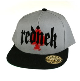 Toxico Clothing Unisex Grey Black Rednek Gothic Ace Snapback