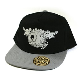 Toxico Clothing Unisex Black Grey Flying Eye Snapback