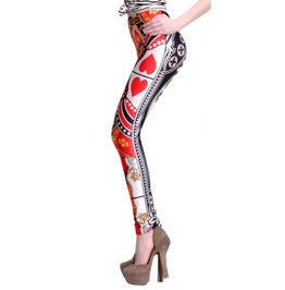 Queen Of Hearts Leggings Design 501