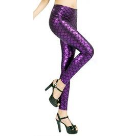 Purple Mermaid Leggings Design 317