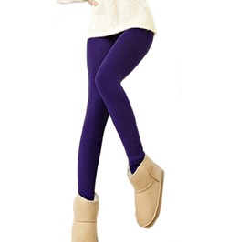 Purple Cashmere Warm Winter Stirrup Leggings Design 395