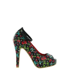 Iron Fist Shoes Cherry Glazer Peep Toe Platform