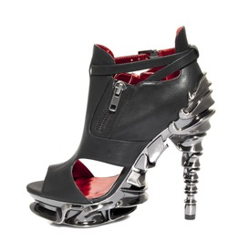 Steampunk Gothic Punk Rock Black Platform Spine Heels Draco Hades Shoes
