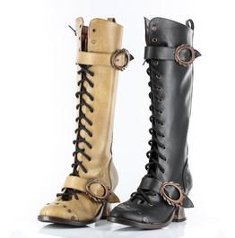Victorian Style Steampunk Vintage Retro 80's Rockabilly Hades Boots