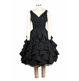 Sexy Sweet Ruffle Retro Style Dress 732 A Ct