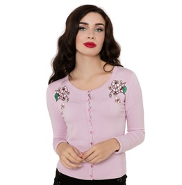 Voodoo Vixen Rosamund Girly Flower Cardigan
