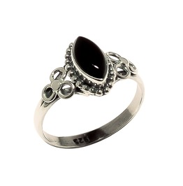 Hecathe Onyx 925 Sterling Silver Ring