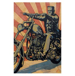 Eerie Rider Art Print By Artist Mike Bell