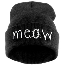 Meow Beanie Winter Hat/Cap
