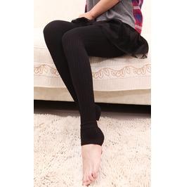 Design 298 Coffee Ribbed Thickening Leggings
