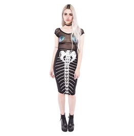 Iron Fist Clothing Bone Deep Pencil Skirt