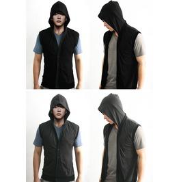 New Unisex Sleeveless Hoodie Track Suit Shirt Sweat Men Lady Sz S M L Xl