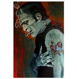 Lowbrow Broken Hearted Art Print By Artist Mike Bell
