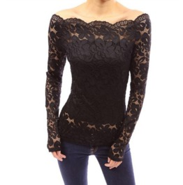 Women's Sexy Gothic Black/Red/White Lace Blouse