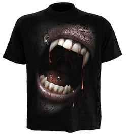 Spiral T Shirt Goth Fangs Vampire Gothic