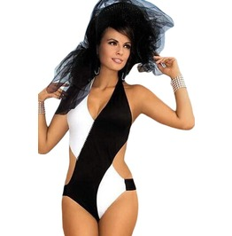 Women's Black/White Sexy One Piece Swimsuit