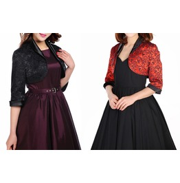 Ladies Black Or Red Gothic Bolero Shrug Jacket Reg& Plus Sizes $9 To Ship