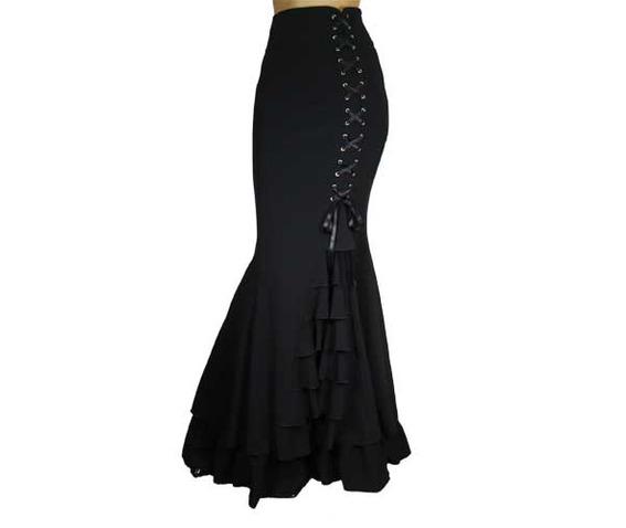 black_or_gray_long_mermaid_fishtail_lacing_skirt_regand_plus_sizes_9_to_ship_skirts_6.jpg