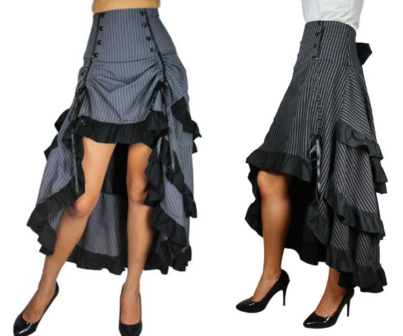 steampunk skirts - shop unique bustle, lace, ruffle skirts at