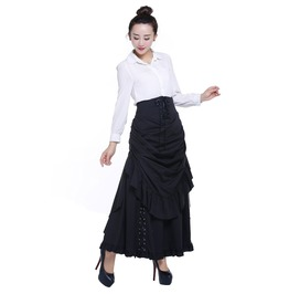 Black Gothic Gypsy Long Victorian Skirt Reg & Plus Sizes